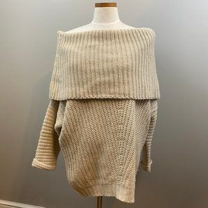 Umgee Off the Shoulder Oversized Knit Sweater S